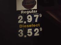 Sign at gas station calls diesel fuel _Dieselect_