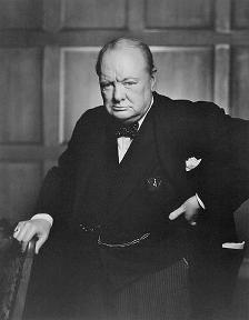 Classic photo of Winston Churchill