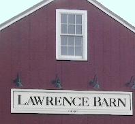 Sign on barn, Lawrence Barn.