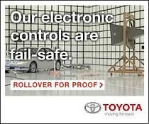 Ad: Toyota electronic controls are fail-safe. Rollover for proof.